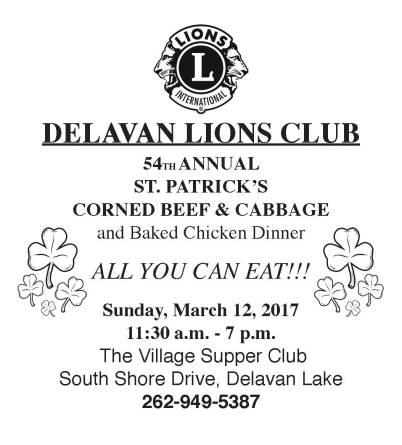 Delavan Lions Corned Beef Flyer 2017