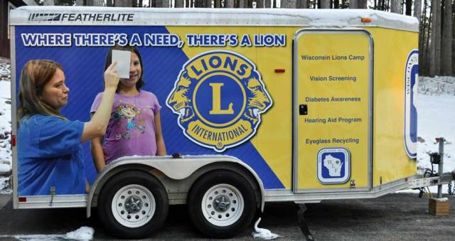 Lions Club Eyeglasses Collection Trailer
